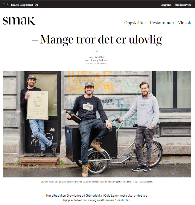 DN Smak - Growleriet