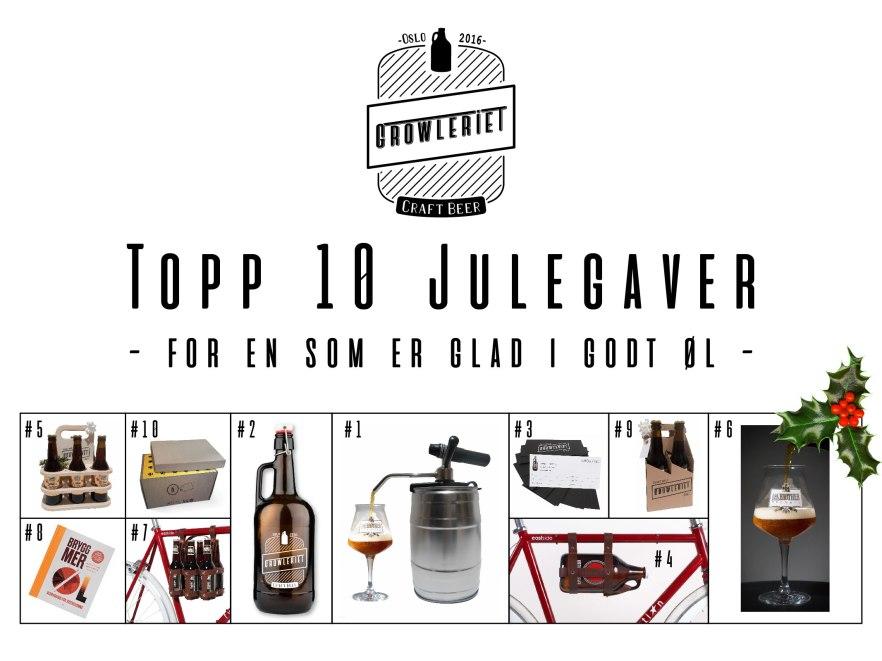 Topp 10 Julegaver - Growleriet